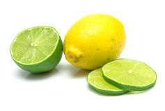 柠檬石灰细分市场 免版税库存照片