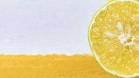 柠檬石灰背景 库存照片