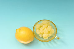 柠檬糖 库存照片