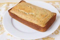 柠檬罂粟种子面包 库存照片