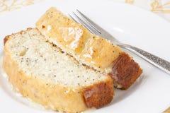 柠檬罂粟种子面包 免版税库存图片