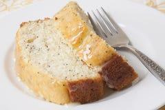 柠檬罂粟种子面包 免版税库存照片