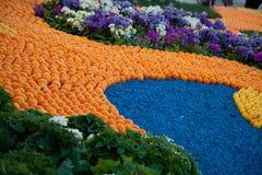 柠檬节日在芒通,柠檬和桔子的样式 免版税库存图片