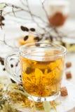 柠檬花茶用蜂蜜 库存图片