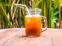柠檬茶瓶子 库存照片