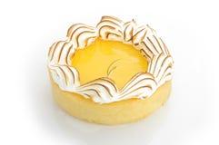柠檬蛋白甜饼馅饼 图库摄影