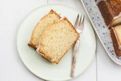 柠檬重糖重油蛋糕 免版税库存照片