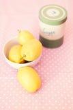 柠檬静物画 库存照片