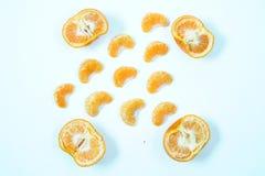 柠檬顶视图大角度看法  库存照片
