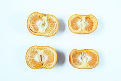 柠檬顶视图大角度看法  免版税库存图片