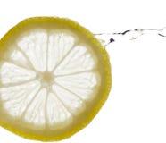 柠檬飞溅 免版税库存照片
