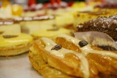 柠檬饼和delicassy 库存图片