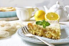 柠檬饼片断早餐 图库摄影