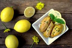 柠檬鸡 免版税图库摄影