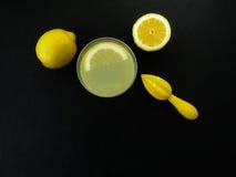 柠檬水准备 免版税库存图片