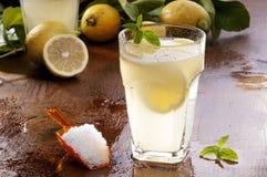 柠檬水和盐 库存图片