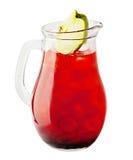 柠檬水投手 樱桃与冰的柠檬水饮料 库存图片