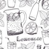 柠檬水无缝的样式 免版税库存照片