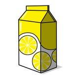 柠檬水纸盒例证 库存照片