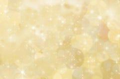 柠檬黄色的抽象星背景 免版税库存照片