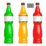 柠檬水装瓶模板 免版税库存图片
