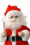 查出在圣诞老人白色 库存照片