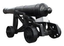 查出在空白葡萄酒大炮 免版税库存图片