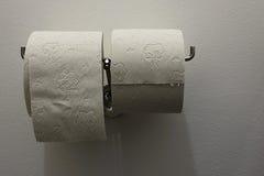 查出在纸卷洗手间白色 图库摄影