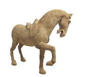 查出的一匹腾跃的马的雕象 免版税图库摄影