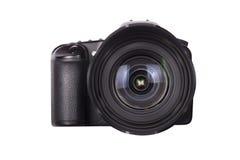 查出的专业数字式照片照相机 免版税库存图片