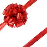 查出的丝带和弓-礼品 免版税库存图片