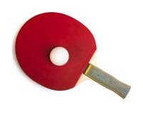 查出的乒乓切换技术白色的网球拍 图库摄影