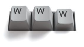 查出的互联网锁上万维网 免版税图库摄影