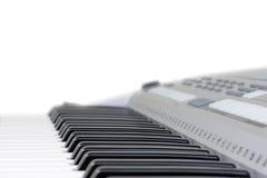 查出的关键钢琴 免版税库存照片