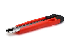 查出的刀子纸张红色 图库摄影