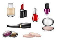 查出的化妆用品 库存图片