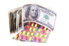 查出的医学的货币 库存照片