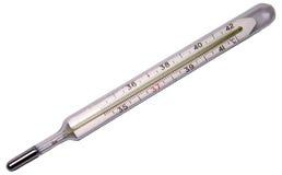 查出的医疗温度计 图库摄影