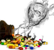 查出的危险药物 免版税图库摄影