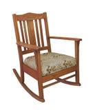 查出的古色古香的木摇椅 库存图片