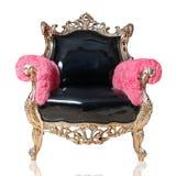 查出的古色古香的椅子 免版税库存图片