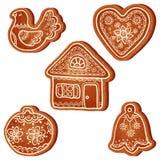 查出的可实现的向量圣诞节甜点 免版税库存照片