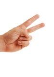 查出的和平标志 免版税库存照片