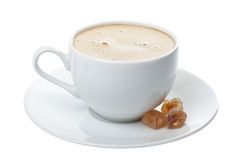 查出的咖啡杯 免版税图库摄影