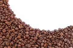 查出的咖啡豆 免版税库存照片