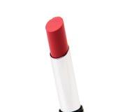 查出的唇膏红色白色 免版税库存照片