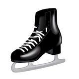 查出的唯一黑冰冰鞋 库存图片