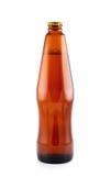 查出的啤酒瓶 免版税库存图片