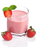 查出的圆滑的人草莓 免版税库存照片
