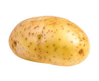 查出的土豆白色 免版税库存图片
